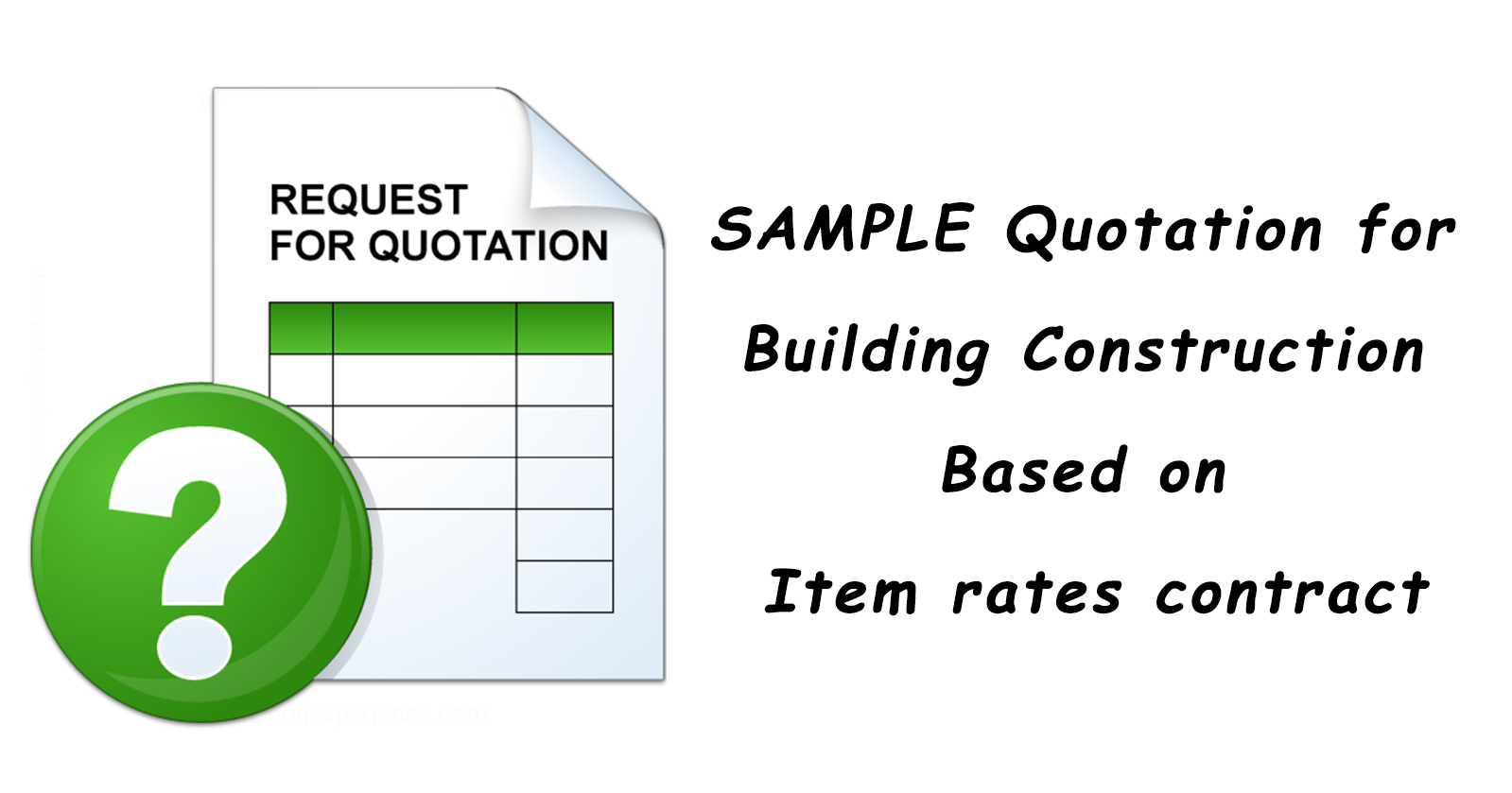 Sample quotation for building construction based on item rates contract altavistaventures Images