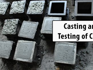 Casting and testing of Cubes