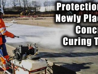 Protection of Newly Placed Concrete Curing Time
