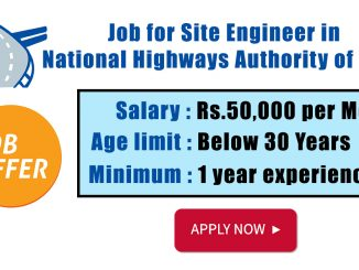 Job for Site Engineer in National Highways Authority of India